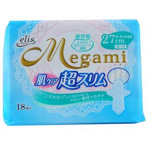 大王 Megami 超薄亲肤透气护翼型卫生巾 27cm*18枚 折13.9元(199-100)