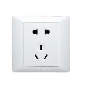 白菜价# 飞利浦 5孔电源开关插座面板 1元包邮