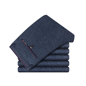 质感体验# 波司登 男士磨毛弹力休闲长裤 2件 159元包邮(318返159)