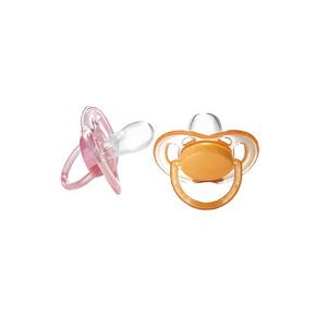 宝妈必备# 新安怡 安抚奶嘴 粉色橘色2个装 33.6元(29+4.6)