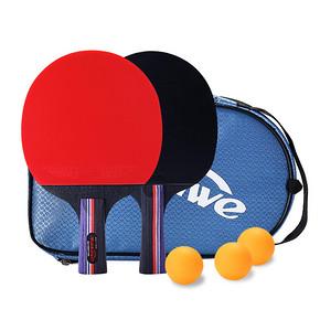 曼迪卡威 高弹耐磨初级乒乓球拍套装 15元包邮(25-10券)
