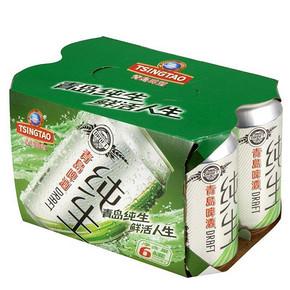 青岛啤酒 纯生8度 330ml*6罐 19元(29-10券)