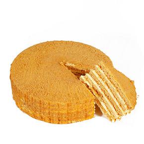 甜蜜在心# 俄之恋 蜂蜜提拉米苏千层蛋糕320g 17.9元包邮(22.9-5券)
