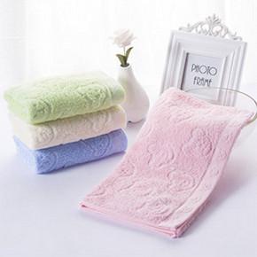 前3分钟半价# 洁丽雅 纯棉素色洗脸巾 4条装 10元包邮(19.9-9.9)