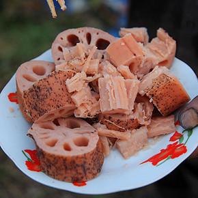 前2分钟# 团鱼洲新鲜粉藕 3斤装 送3斤 48.8元包邮(买1送1)