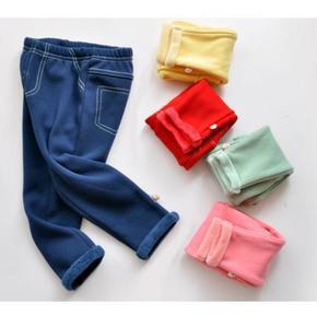 海绵泡泡 婴儿纯棉加绒长裤 19.8元包邮(29.8-10券)