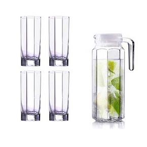 品质生活# 乐美雅 玻璃水杯套装+送水壶 18.8元包邮(28.8-10券)
