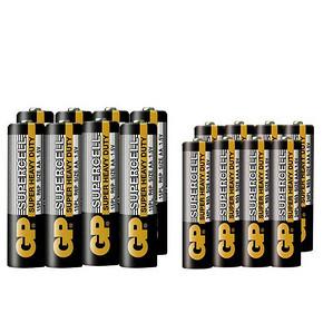 GP 超霸 碳性干电池 7号8节+5号8节 9.9元包邮(19.9-10券)
