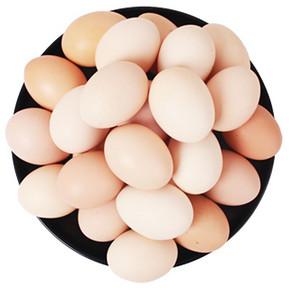 京山 山泉散养土鸡蛋 30枚 28.9元包邮