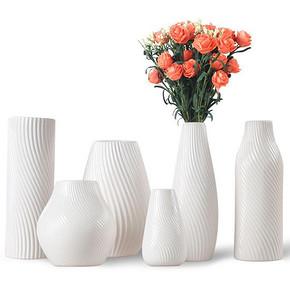 性冷淡风# 顺新 欧式简约白色陶瓷花瓶 6.8元包邮(16.8-10券)