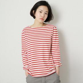 前5分钟# 私品味女士纯棉长袖条纹T恤 19.9元包邮(36返16.1)