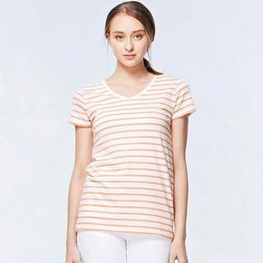 小码福利# 佐丹奴 T恤 女士夏季简约V领T恤 19元包邮(24-5券)