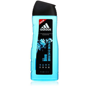 Adidas 阿迪达斯 男士活力沐浴露 冰点 400ml 折12.5元(199-100)