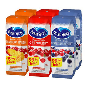 Ocean Spray 优鲜沛 蔓越莓复合果汁饮料 250ml*6瓶 9.8元