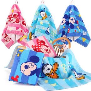 前5分钟半价# 迪士尼 纯棉纱布儿童挂式毛巾 5元包邮(10-5)
