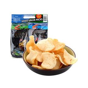 印尼进口 啪啪通 虾片 原味海苔味组合装 85g*2包 14.9元