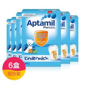 德国 Aptamil 爱他美 奶粉 1+段 600g*6盒 569.5元包邮(569+60.5-60券)