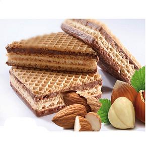 泓一 榛子杏仁巧克力威化饼干130g*2袋 19.9元包邮(29.9-10券)