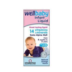 凑单好价# 英国Vitabiotics Wellbaby 婴儿多维营养液 150ml 29.9元
