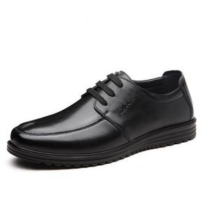 前30秒半价# 木林森 商务休闲系带皮鞋  179返89.5元