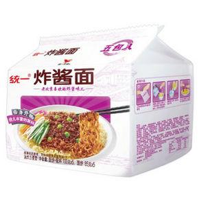 统一  老北京炸酱面 五连包 9.9元