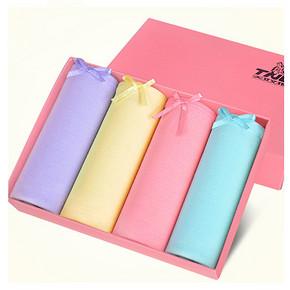 天奴狼 女士纯色中腰内裤 4条盒装 15.8元包邮(25.8-10券)