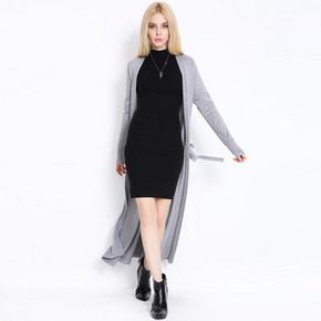 女王新装# O&MXTK 超长款冬季针织衫  68元包邮(128-60券)