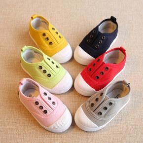 糖果色# 拉拉猪 春秋儿童帆布鞋  19.8元包邮(29.8-10券)