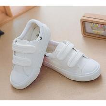 舒适透气# 双星 儿童白色休闲帆布鞋 26元包邮(29-3券)