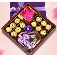 心意满满# 德芙 圣诞巧克力礼盒 49元包邮(59-10券)
