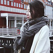 上海故事 加厚纯色仿羊绒围巾 19.9元包邮(29.9-10券)