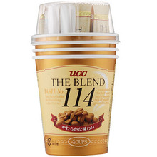 UCC 悠诗诗 114咖啡 15g*4杯 折11元(19.9,199-100)
