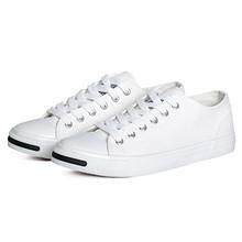 回力 情侣白色低帮系带开口笑帆布鞋 49元包邮(59-10)