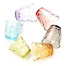 卢米 彩色耐热透明玻璃杯 220ml*6个 19.9元包邮(24.9-5券)