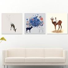北欧风格# 缀家 清新北欧风格客厅装饰画 9元包邮(19-10券)