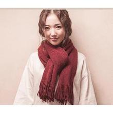 简约文艺# 格调师 披肩加厚羊毛纯色围巾 14.9元包邮(29.9-15券)