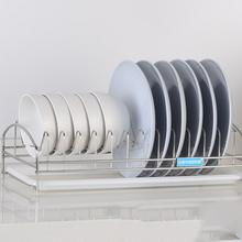 沥水好物# 悦盾 厨房不锈钢碗碟置物架 14元包邮(29-15券)