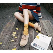 日系少女# 芦琴 复古粗线韩版堆堆袜 折6.5元(双重优惠)