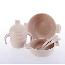爱思得 环保健康婴儿碗勺套装 5件套 28.2元包邮(68.2-40券)