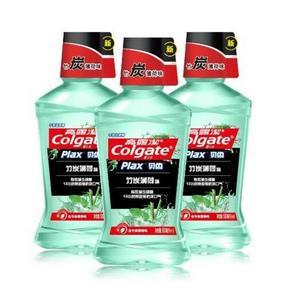Colgate 高露洁 竹炭薄荷漱口水 500ml*3瓶