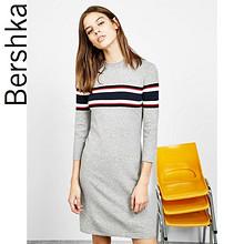 双12提前购物车# Bershka 女士亚洲限定条纹针织连衣裙 139元包邮