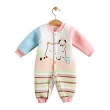 钓鱼猫 婴儿夹棉连体服 多款可选 19元包邮(29-10券)