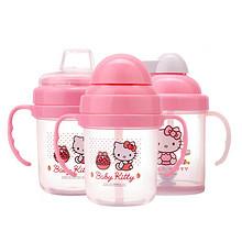 学饮必备# HelloKitty 婴儿吸管防漏鸭嘴杯 210ml 29元包邮(49-20券)