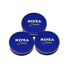 双12提前购物车# Nivea 妮维雅 蓝罐面霜 56g*3盒 69元包邮