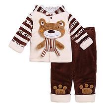 旺贝特 婴幼儿加厚保暖开衫套装 39元包邮(69-30券)