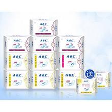 前1000名半价# ABC 日夜卫生巾 10包 共60片+赠品  12日0点 69.9返34.9元