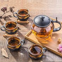 静心品茗# 水之物语 耐热玻璃茶具套装 一壶四杯 19.9元包邮(22.9-3券)