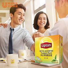 办公提神# Lipton 立顿 红茶茶包 50包+绿茶50包 23.9元包邮(33.9-10券)