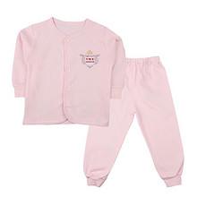 温和呵护# 婴梦儿 婴儿纯棉保暖内衣套装 28元包邮(38-10券)