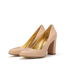 双12提前购物车# WHAT FOR 女士尖头真皮粗高跟鞋 198元